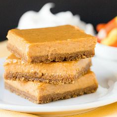 Maple Pumpkin Cheesecake Bars  (8 oz)