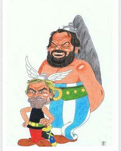 Fan Art www.budspencerofficial.com #budspencer #terencehill #obelix #asterix
