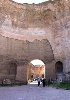 Bath of Caracalla Rome 2011 8 - Thermae - Wikipedia, the free encyclopedia