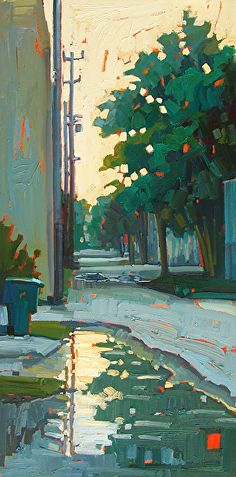Behind the Scenes - Rene Wiley - 24 x 12 inches - oil on panel by René Wiley Gallery Oil ~ 24 x 12