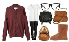Switch the uggs with tall brown leather boots
