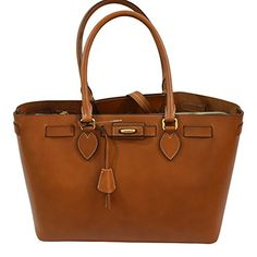 Boldrini Selleria Cuoio Vacchetta Leather Totebag Handbag - Womens Bags