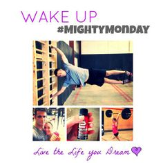 We want to see you feeling EMPOWERED, STRONG, and ENERGIZED! Message us pics and your story and we'll feature you on a #mightymonday!  Check out two of our clients, Chris Hollowood and Melanie Rapino, who fuel their CrossFit workouts on a daily basis. Yes, that's Chris doing a flagpole and Melanie split jerking 125lbs. Their energy and performance are through the roof!!  #wakeupproject #livethelifeyoudream