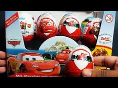 4 Disney Pixar Cars 2 Surprise Eggs Unboxing Zaini like Kinder Surprise  I'm unboxing unwrapping an epic review of 4 disney pixar cars 2 toy surprise eggs holiday edition with custom cartoys inside from Zaini toys. Comes with lightning mcqueen, tow mater, holley shiftwell, finn mcmissile, luigi with headset and raoul caroule. Best of all they are ready to be customized any way you like it.