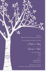carved initials tree Invitations & Announcements