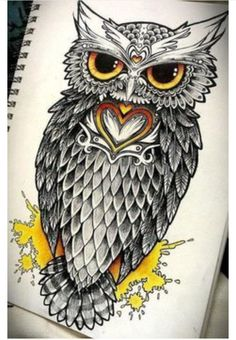 Considering this owl, modified of course for my next tattoo. Would like to add talons holding a #mysterykey with a #treeoflife monogrammed in the bow portion of the key as if he were sitting on a branch, with the branch being the key. #openingnewdoors #wisdom #owlobsession #keytofreedom #unlockingnewchaptersinlife #iloveowls  @binxyfbaby would love for you to work on this for me next time you come to #Duval #Jacksonville #OnPointInk if you'll have me again!