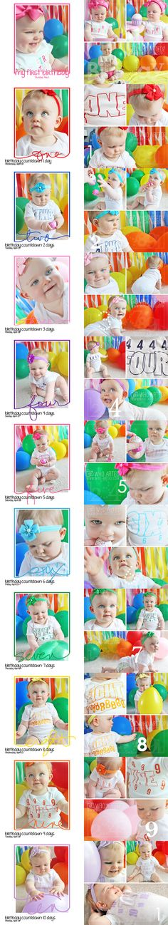 Birthday Countdown! A fun way to count down to any child's birthday!