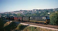 Hymek D7039 on a Parcels train, near Ham Mill Halt 1964.   Flickr