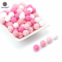 Able Lets Make Silicone Teething Rose Flower 3d Baby Accessories 50pc Diy Crafts Round Beads Kids Toys Baby Silicone Beads Nursing Jewelry & Accessories