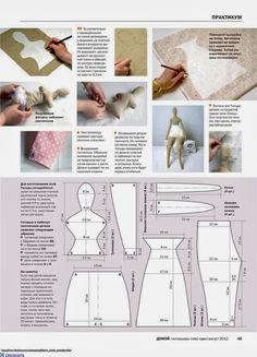 Best 11 Mimin Dolls: Mais Tildas by edith – SkillOfKing. Doll Crafts, Diy Doll, Sewing Crafts, Sewing Projects, Doll Clothes Patterns, Doll Patterns, Doll Tutorial, Sewing Dolls, Soft Dolls