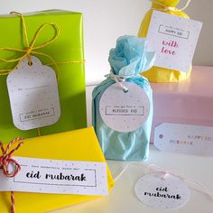 in my studio | Freebie week 3 | Eid Gift Tags