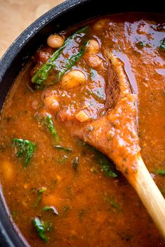 Summer Tomato-Basil Soup with White Beans & Pancetta | thecozyapron.com