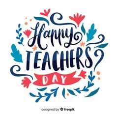 Hadn drawn world teachers' day lettering Free Vector Happy Teachers Day Card, Teachers Day Celebration, Teachers Day Greetings, Teachers Day Poster, Teacher Cards, World Teacher Day, World Teachers, Teacher Encouragement Quotes, Mother's Day Banner