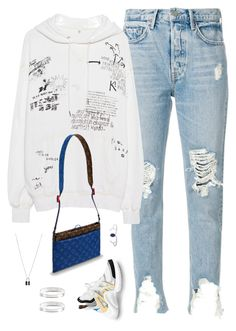 """""""Untitled #618"""" by styleswavington on Polyvore featuring GRLFRND, R13, Louis Vuitton and Maison Margiela"""