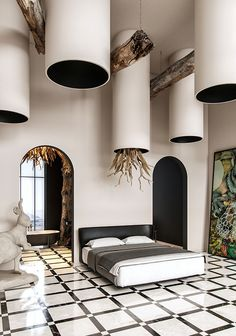 interior visualizations, max and corona renderer. Interior Design Elements, Loft Interiors, Natural Interior, Woodworking Bed, Interior Concept, Home Room Design, Ceiling Design, Land Scape, Decoration