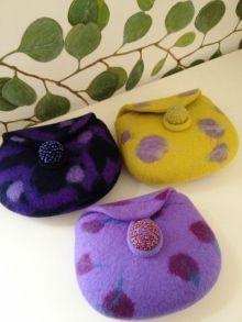 春の紫色コサージュ♪の画像 |  Atsuko Sasaki♪ 羊毛フェルト Felting…