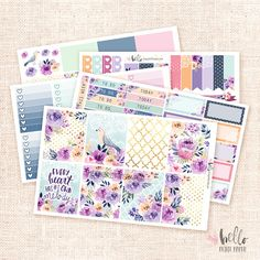 Melody - Planner sticker kit / 5 sheets, matte or glossy Erin Condren, Happy Planner - Fall Floral