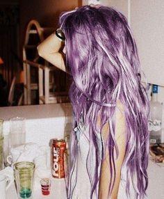 mermaid hair  lavender