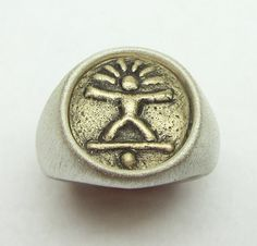 BALANCE/Mind-Body-Spirit. LifeLinks Bold is a limited collection of LifeLinks images, 14 mm in diameter. They are set in either Hammered Finish or Smooth Satin finish mountings. Each LifeLinks Bold image is designed and hand carved by International Award winning Jewelry Designer, Link Wachler. They are each given a spiritual, relational, or inspirational title. All images are displayed in photo number four with their titles and meanings.