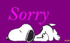 snoopy sorry