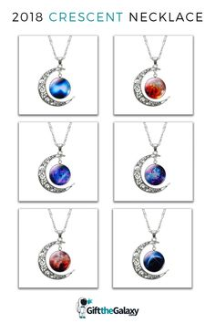 ThisgorgeousMoon & Galaxy Necklace is theperfectout-of-this-world accessory. Not only does it make adazzling giftfor any universe lovers, but it also makes the perfecttreat for yourself. The beautiful crescent moonsurrounds abreathtakingglass galaxy pendant of your choosing.Elegant, classy and unique, this is one piece of jewelry you want to have in your collection. Space Gifts Space Gift Ideas Space Jewelry Galaxy Jewelry#GiftTheGalaxy Moon Necklace, Pendant Necklace, Solar System Bracelet, Galaxy Jewelry, Space Jewelry, Pendant Design, Jewelry Bracelets, Best Gifts, Universe