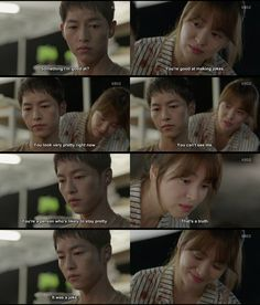 Ep 7 ~ OTP light banter #descendants of the sun #song joong ki #song hye kyo