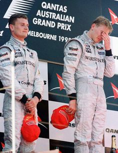 Mercedes Benz McLaren F1 team - Mika Hakkinen was reduced to tears after beating David Coulthard in 1998, but the triumph was clouded in controversy after the Scot had allowed his team-mate to pass late on in the race as the McLarens dominated the race by lapping every car