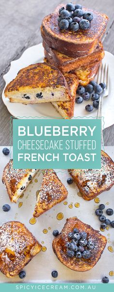 Blueberry Cheesecake Stuffed French Toast - We're going all out at breakfast . - Blueberry Cheesecake Stuffed French Toast – We're going all out at breakfast time with delicio - Breakfast Sandwich Recipes, Breakfast Toast, Breakfast Time, Brunch Recipes, Blueberry Breakfast, Breakfast Specials, Overnight French Toast, French Toast Bake, French Toast Casserole