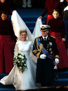 Princess Máxima and Prince Willem Alexander at their wedding day