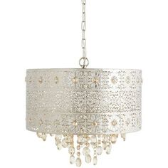 Lighting is an artful endeavor, especially in the case of our bejeweled chandelier. Influenced by modern bohemian styling, our gleaming, metallic chandelier features a punched floral pattern and warm amber crystal beads and drops. Plug In Chandelier, Chandelier Design, Crystal Chandelier Lighting, Floral Chandelier, Bubble Chandelier, Pendant Lamps, Morrocan Chandelier, Crystal Lights, Crystal Lamps