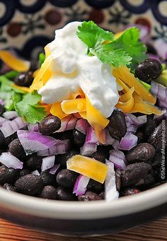 Prepare an easy and healthy Black Bean Bar for you next get together. It's a tasty and satisfying option for serving guests lunch or dinner. shewearsmanyhats.com