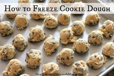 This makes it easier to justify baking cookies - I don't feel obligated to make (and eat) a whole batch, and I can just bake a few at a time.