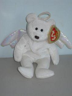 1998 ty Beanie Babies Halo Angel Bear Free Shipping!! Ty Bears a2180cf6df36