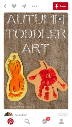 - Fall Crafts For Toddlers Daycare Crafts, Baby Crafts, Toddler Crafts, Preschool Crafts, Infant Crafts, Kids Crafts, Fall Art Projects, Toddler Art Projects, October Art