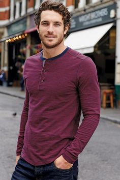 . Cool T - like the colors. Plus - the model is easy on the eyes!  (Justice Joslin for Next Fall 2015)