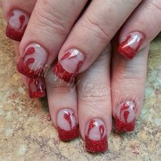 Vampire Blood by crystal_marie - Nail Art Gallery nailartgallery.nailsmag.com by Nails Magazine www.nailsmag.com #nailart