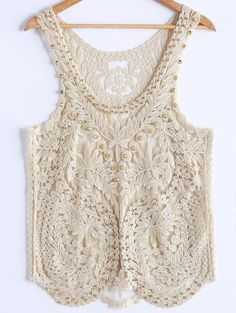 White cream crochet top/ Add a Sinchi™ & a Scarf / Be Chic / www.SinchiScarfClip.com