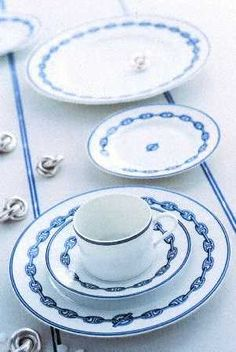 Hermes Chaine d'Ancre blue and white china for the beach cottage...