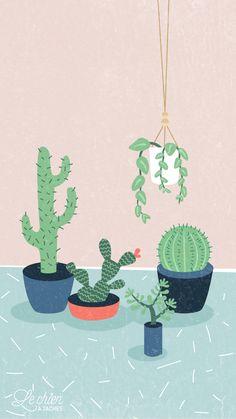 Succulent Cactus Wallpaper Ideas For 2020 Wallpaper Pastel, Wallpaper Keren, Wallpaper Iphone Cute, Cool Wallpaper, Drawing Wallpaper, Wallpaper Ideas, Mobile Wallpaper, Bts Wallpaper, Wallpaper World