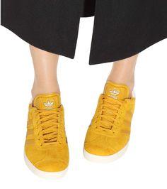 3595068d93df2 Gazelle yellow suede sneakers Suede Sneakers