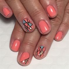 Summer Coral Mosaic by Jgchef13 from Nail Art Gallery