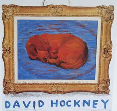 This image comes from the book David Hockney's Dog Days. 1995 BMW 850 CSi Art Car by David Hockney . Pop Art Movement, Dachshund Art, David Hockney, Encaustic Painting, Chalk Pastels, Dog Paintings, Wood Engraving, Linocut Prints, Dog Art