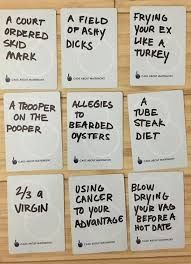 Hilarious ideas for blank cards in cards against humanity game or DIY your own cards against humanity Diy Cards Against Humanity, Funniest Cards Against Humanity, Cards Of Humanity, Funny Christmas Games, Christmas Games For Adults, Christmas Humor, Watch Ya Mouth Phrases, Speak Out Phrases, Mouth Game