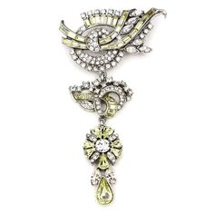 The Crystal Collage Collection Measurements: x Metal: Silver-tone Metal Swarovski Crystal Made in the USA Spring Has Sprung, Belly Button Rings, Swarovski Crystals, Most Beautiful, Collage, Brooch, Deco, Usa, Yellow