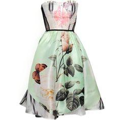 Antonio Marras SS 2014 - satinee.polyvore.com ❤ liked on Polyvore featuring dresses, vestidos, short dresses, gowns, green mini dress, antonio marras, green dress and short green dress