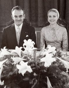Grace Kelly and Prince Rainier III of Monaco were married in a civil ceremony on… Andrea Casiraghi, Charlotte Casiraghi, Prince Rainier, Princess Caroline Of Monaco, Princess Stephanie, Beatrice Borromeo, Princesa Grace Kelly, Albert Von Monaco, Patricia Kelly