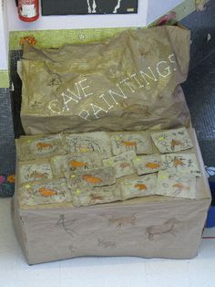 Cave Paintings classroom display photo - Photo gallery - SparkleBox