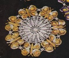 Free Pattern For A Butterfly Doily To Crochet