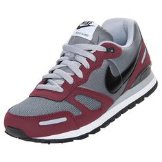 Men\u0027s Nike Air Waffle Trainer Casual Shoes | FinishLine.com | Grey/Burgandy/