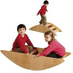 Rock - a- boot It's a rocking rowboat…it's a set of steps. This durable, tip-proof play unit is built for physical and balance development, but most of all it's fun!